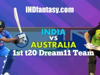 India vs Australia 1st t20 Dream11 Team | Match News | Playing XI | Fantasy Prediction