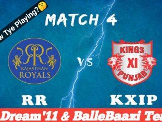 KXIP vs RR IPL 2019 4th Match Fantasy Prediction, Match News & Playing XI