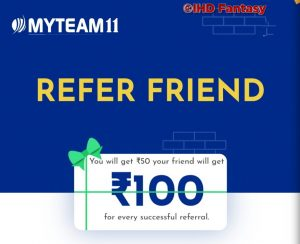 MyTeam11 Refer & Earn Rs 50 / Referral