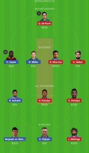 KXIP vs Mi IPL 2019 9th Match - Dream 11 Team