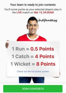 dream11 Fantasy Point System
