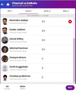 11wickets select team
