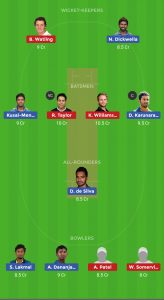 SL vs NZ Dream11 Team for small league