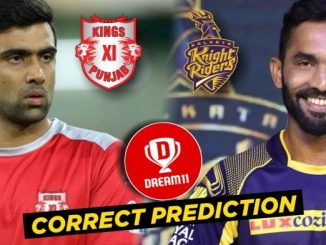 kxip vs kkr dream 11 team