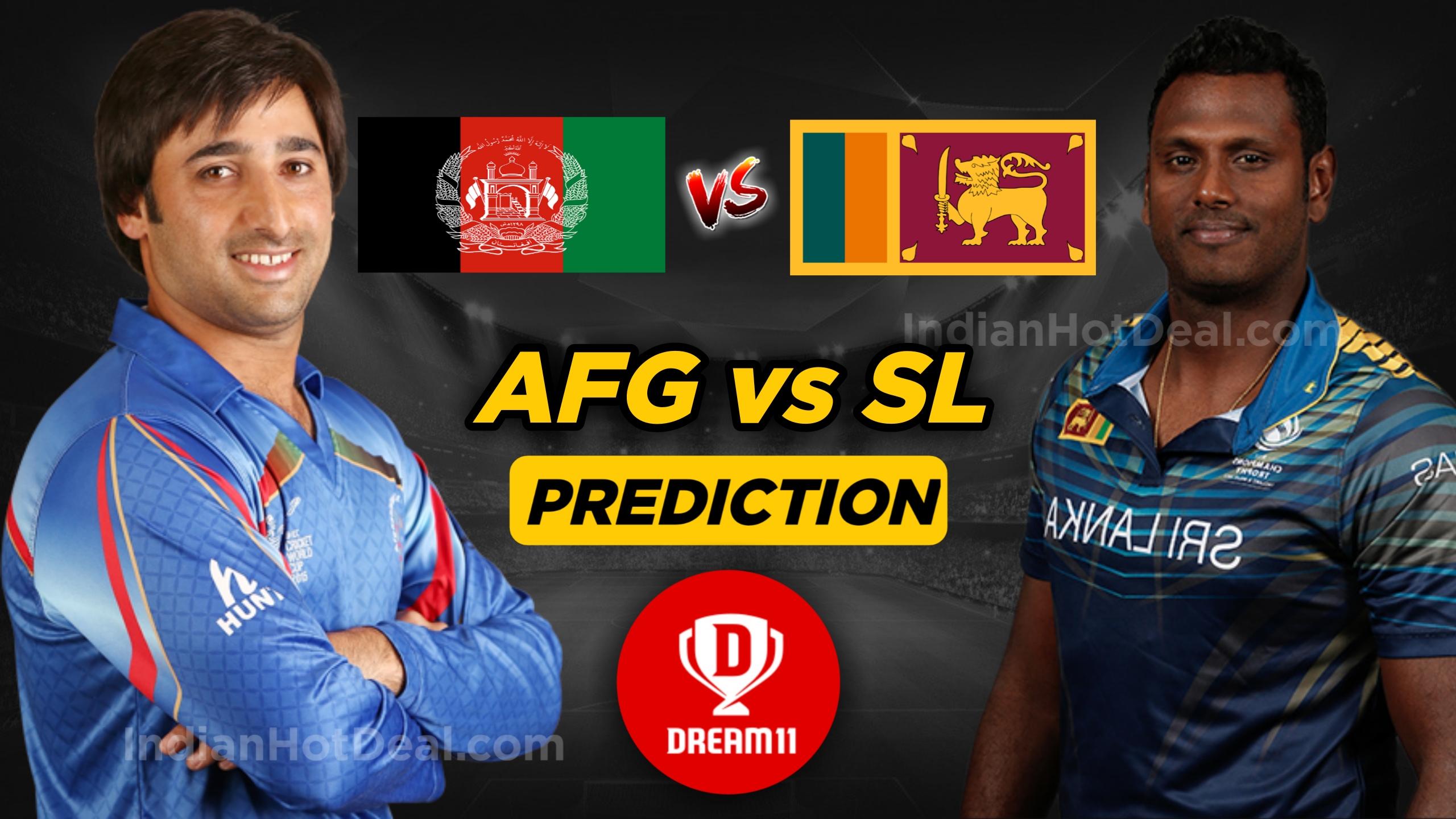 Afghanistan vs Srilanka Dream11 team World Cup 2019