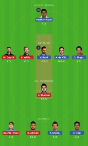 Dream11 Team For SRH vs RCB Small League
