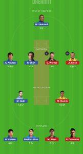 AFG vs AUS Dream11 Team for small league