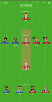eng vs pak dream 11