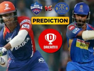 DC vs RR Dream11 Team Prediction Today Match