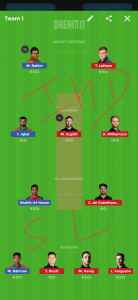 BAN vs NZ Dream11 Team for small league, BAN vs NZ Dream11 Team
