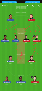 BAN vs NZ Dream11 Team for small league