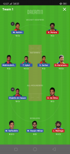 BAN vs SL Dream11 Team for today's match