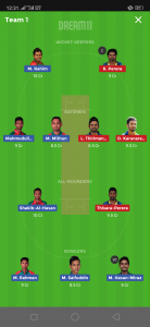 BAN vs SL Dream11 Team Grand League