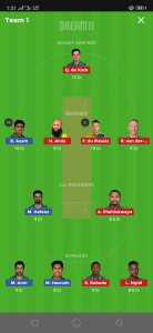PAK vs SA Dream11 Team for today's match