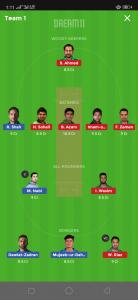PAK vs AFG Dream11 Team for today's match Grand League