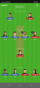 AUS vs NZ Dream11 Team for today's match