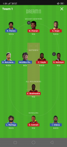 SL vs WI Dream11 Team for today's match Grand League