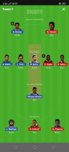 SL vs WI Dream11 Team for today's match Small League