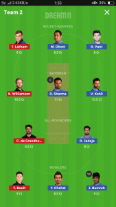 IND vs NZ Small league team