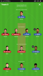 IND vs NZ Grand league team