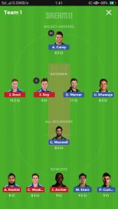 Australia vs England Grand league team