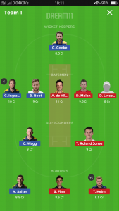 English T20 Blast Dream11 Team - GLA v MID, KET v ESS, DER v NOT
