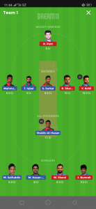IND vs BAN Dream11 Team for small league