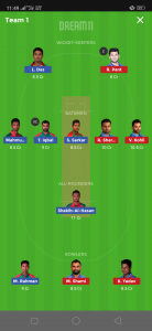 IND vs BAN Dream11 Team Grand League