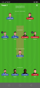 ENG vs NZ Dream11 Team small League