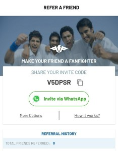 fanfight referral code fantasy