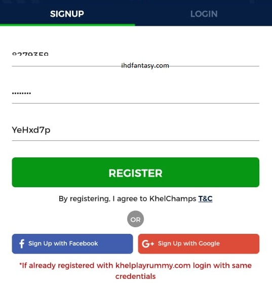 khelchamps signup form