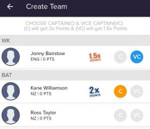 play11 captain and vice captain