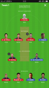 Essex vs Middlesex Dream11 Team for Grand league