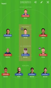 ENG v AUS Dream11 Team Prediction For 4th Test