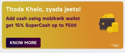 gamezy mobikwik offer