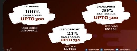 GoSUper11 promo codes