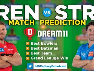 REN vs STR Dream11 Team Prediction