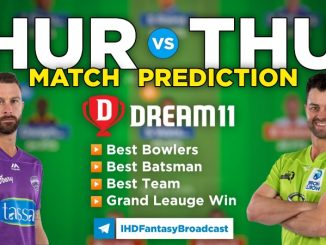 HUR vs THU Dream11 Team Prediction