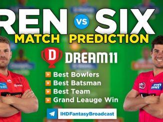 SIX vs REN Dream11 team prediction