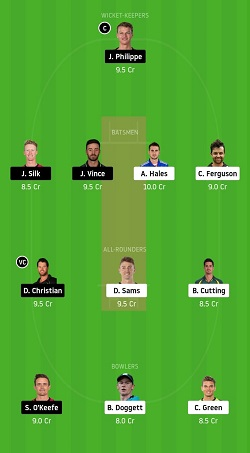 THU vs SIX Dream11 Team Prediction gl