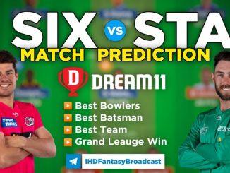 SIX vs STA Dream11 Team Prediction