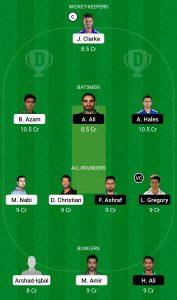 KAR vs ISL Dream11 Team for grand league