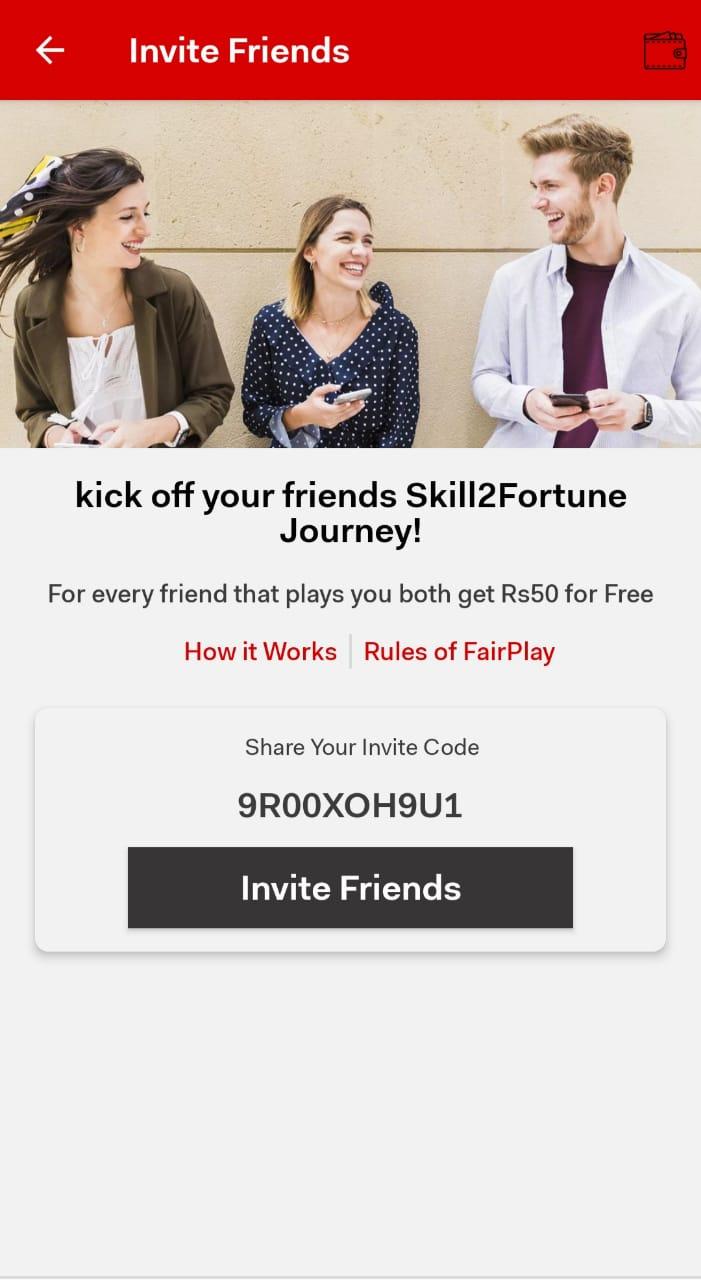 Skill2Fortune invite Code