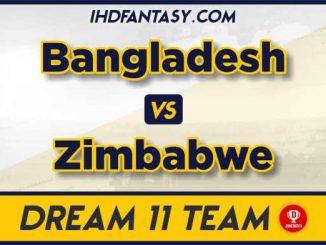 BAN vs ZIM dream11