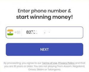 gamezop enter mobile number
