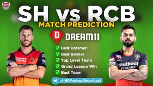 IPL 2020 – Match 03, SRH vs RCB Dream11 Team Prediction Today Match
