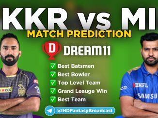IPL 2020 – Match 32, MI vs KKR Dream11 Team Prediction Today Match