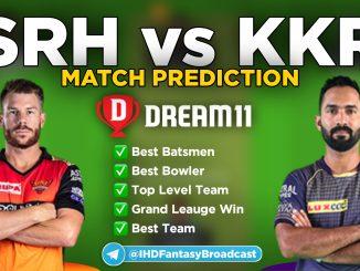 IPL 2020 – Match 35, SRH vs KKR Dream11 Team Prediction Today Match