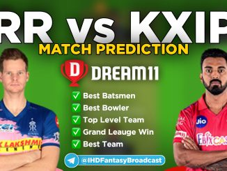 IPL 2020 – Match 50, KXIP vs RR Dream11 Team Prediction Today Match