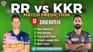 IPL 2020 – Match 54, KKR vs RR Dream11 Team Prediction Today Match